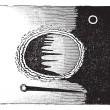 Fig. 3. - Archimedes seen through the telescope, vintage engravi - Imagen vectorial