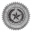 Royalty-Free Stock Vector Image: Seal of the State of Texas, vintage engraving.