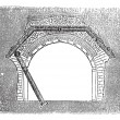 Concrete Tunnel, vintage engraving — Image vectorielle