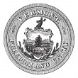 Royalty-Free Stock Векторное изображение: Seal of the State of Vermont, USA, vintage engraving
