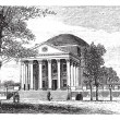 Royalty-Free Stock Imagem Vetorial: University of Virginia, in Charlottesville, Virginia, USA, vinta