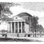 University of Virginia, in Charlottesville, Virginia, USA, vinta — Stock Vector #9105358