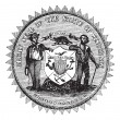 Royalty-Free Stock Vectorielle: Great Seal of the State of Wisconsin USA vintage engraving