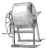 Wheel washing-machine vintage — Stock Vector