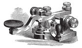 Fig. 8. Morse manipulator, vintage engraving. — Stock Vector