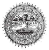 Seal of the State of Tennessee, vintage engraving. — Stock Vector
