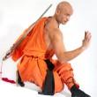Shaolin warrior monk — Stock Photo