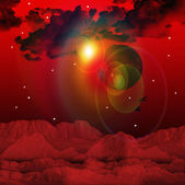 Rode hemelachtergrond — Stockfoto