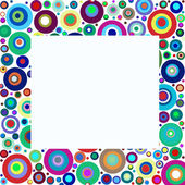 Colorful circle frame — Stock Photo