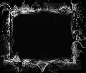 Black grunge frame — Stock Photo