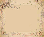 Floral border frame — Stock Photo