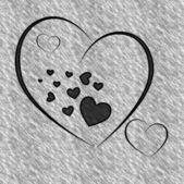 Serce szary tło — Zdjęcie stockowe