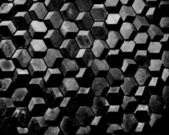 Black abstract cubes — Stock Photo