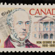 Stock Photo: CANAD- CIRC1968: stamp printed by Canada, shows George Brown, Globe