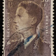 BELGIUM - CIRCA 1952: A stamp printed in Belgium shows Baudouin I King of t — Stock Photo