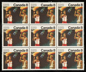 CANADA - CIRCA 1976: stamp printed by Canada, shows Olympic Torch square ni — Stock Photo