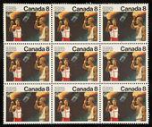 CANADA - CIRCA 1976: stamp printed by Canada, shows Olympic Torch square ni — Fotografia Stock