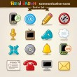 communication icon set Vector main draw — Vecteur