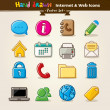 Royalty-Free Stock Vector Image: Vector Hand Draw Internet And Web Icon Set