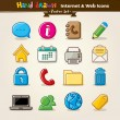 Vector Hand Draw Internet And Web Icon Set - Stock Vector