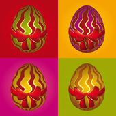 Easter egg selection — Stock Vector