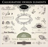 Calligraphic Design Elements — Cтоковый вектор