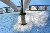 Detail of the big wheel of London — Stock Photo