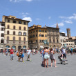 Stock Photo: Tourists on PiazzdellSignoria