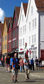 Bryggen district in Bergen, Norway — Stock Photo