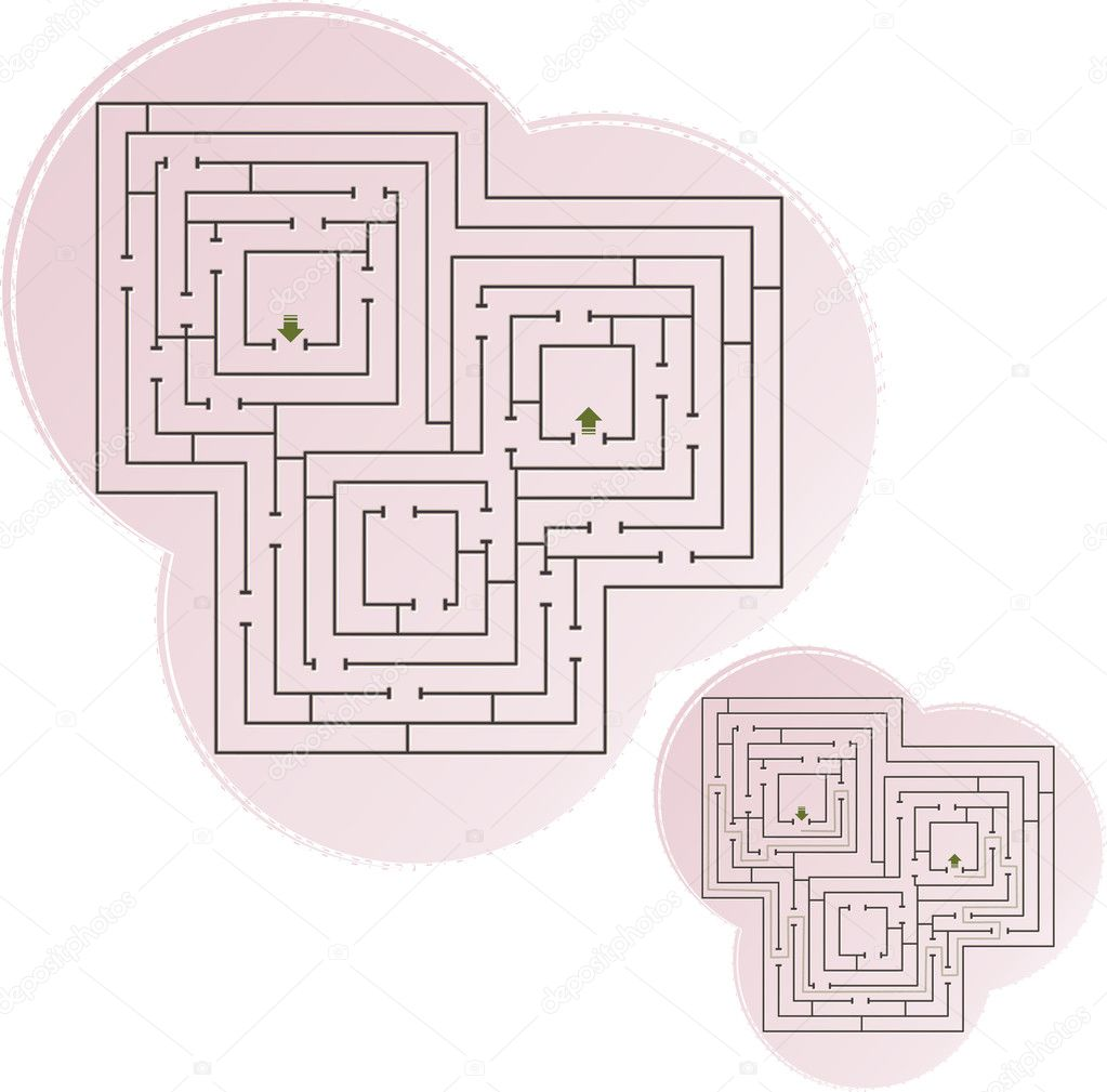 This is illustration of abstract maze — Stock Vector #10374014