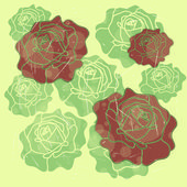 De fundo vector sem costura com rosas — Vetor de Stock