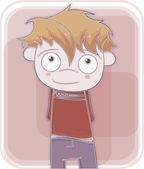 Happy little boy — Stock Vector
