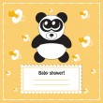 Baby shower invitation card, vector — Stock Vector