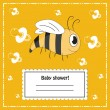 Vector de stock : Baby shower invitation card, vector