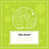 Carte d'invitation de douche bébé, vector. — Vecteur