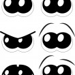 Set of cartoon eyes on white background — Stock Vector