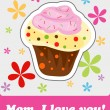 Vector de stock : Card to Mother's Day, vector