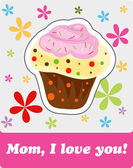 Card to Mother's Day, vector — Cтоковый вектор