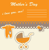 Tarjeta para el día de la madre, vector — Vector de stock
