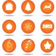 Christmas icon set (may be used as buttons) - Stock Vector