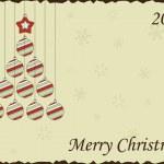 Cute vintage Christmas card, vector illustration, 2012 — Stock Vector