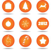 Christmas icon set (may be used as buttons) — Stock Vector