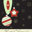 Stock Vector: Cute vintage Christmas card, Vector illustration, 2012