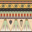 Egyptiornament, vector illustration, seamless pattern — Stok Vektör #8388273
