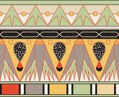 Egyptian ornament, vector illustration, seamless pattern — Stock Vector