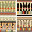 Set of ancient egyptian ornament, vector, seamless pattern — Stock Vector #8502878
