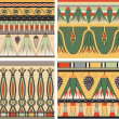 Set of ancient egyptian ornament, vector, seamless pattern — Stock Vector #8502880