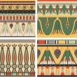 Set of ancient egyptian ornament, vector, seamless pattern — Stockvectorbeeld