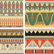 Set of ancient egyptiornament, vector, seamless pattern — Stock Vector #8502885