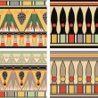 Stock Vector: Set of ancient egyptian ornament, vector, seamless pattern